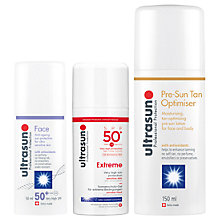 Buy Ultrasun SPF 30 Anti-Ageing Sensitive Facial Sun Cream, 50ml and Ultrasun Extreme Sensitive SPF 50+ Sun Lotion, 100ml with Gift Online at johnlewis.com