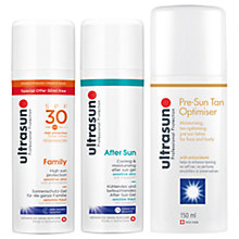 Buy Ultrasun SPF 30 Family Ultra Sensitive Sun Cream, 150ml and Cooling & Moisturising After Sun Cream, 150ml with Gift Online at johnlewis.com