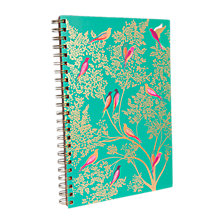 Buy Sara Miller A4 Birds Notebook, Turquoise Online at johnlewis.com