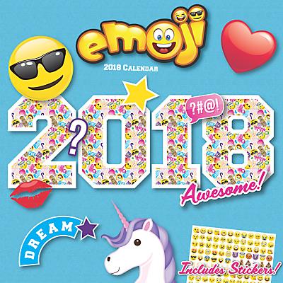 Carousel Calendars Emoji Square 2018 Calendar