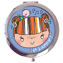 Buy Rachel Ellen Be Happy Compact Mirror Online at johnlewis.com