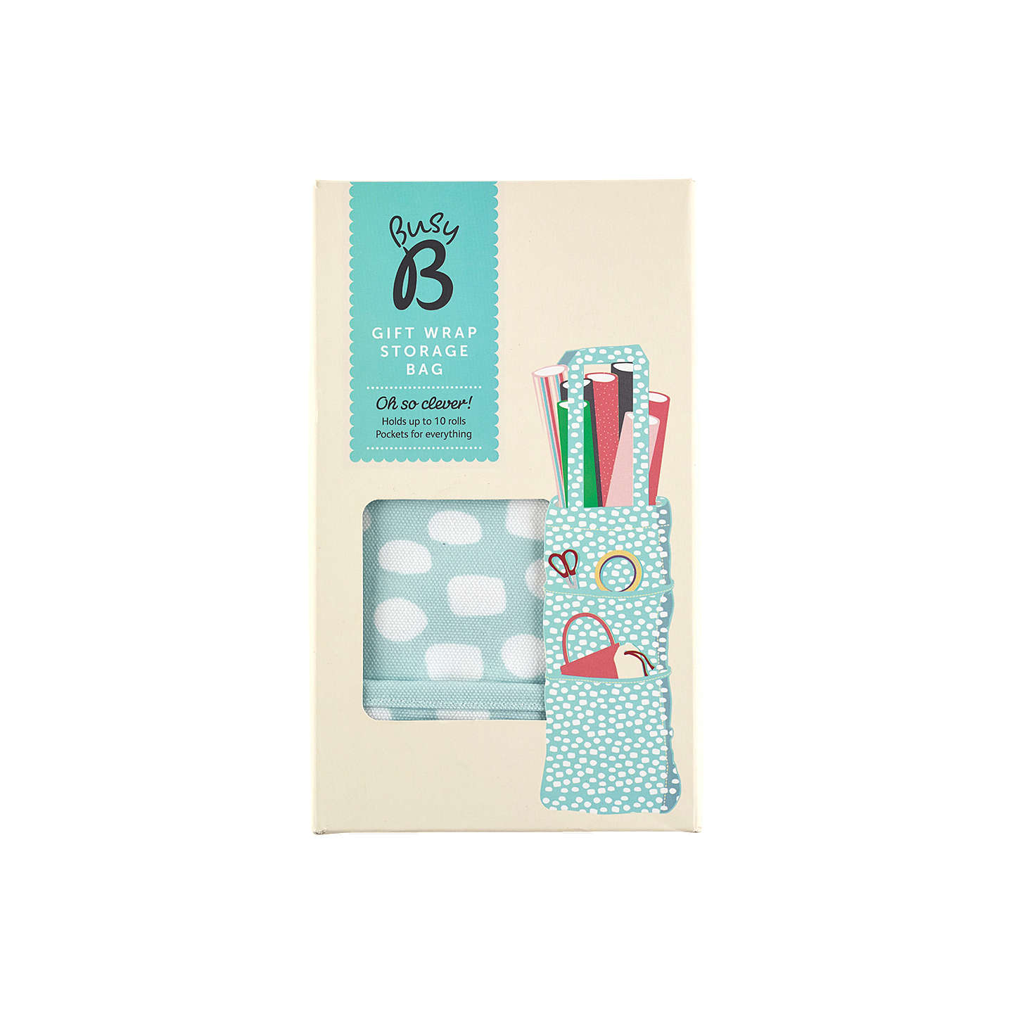 Busy B Gift Wrap Storage Bag | Duck Egg at John Lewis