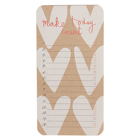 Buy Caroline Gardner Kraft Hearts To Do List Notepad Online at johnlewis.com