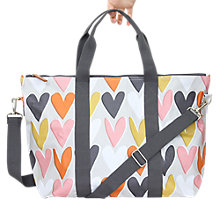 Buy Caroline Gardner Hearts Weekend Bag, Multi Online at johnlewis.com