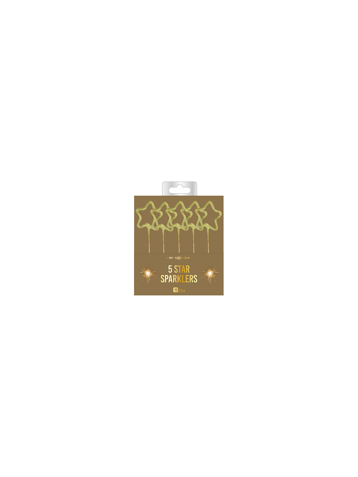 BuyTalking Tables Star Sparklers, Pack of 5, Gold Online at johnlewis.com