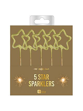 Talking Tables Star Sparklers Pack Of 5 Gold