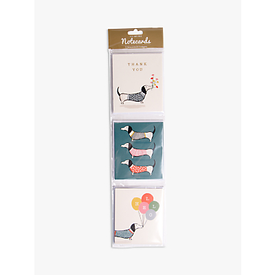 Image of Art File Sausage Dog Notecards, Pack of 12
