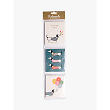 Buy Art File Sausage Dog Notecards, Pack of 12 Online at johnlewis.com