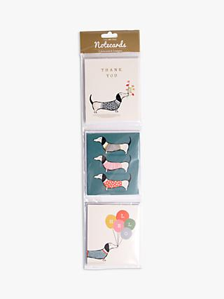Art File Sausage Dog Notecards, Pack of 12