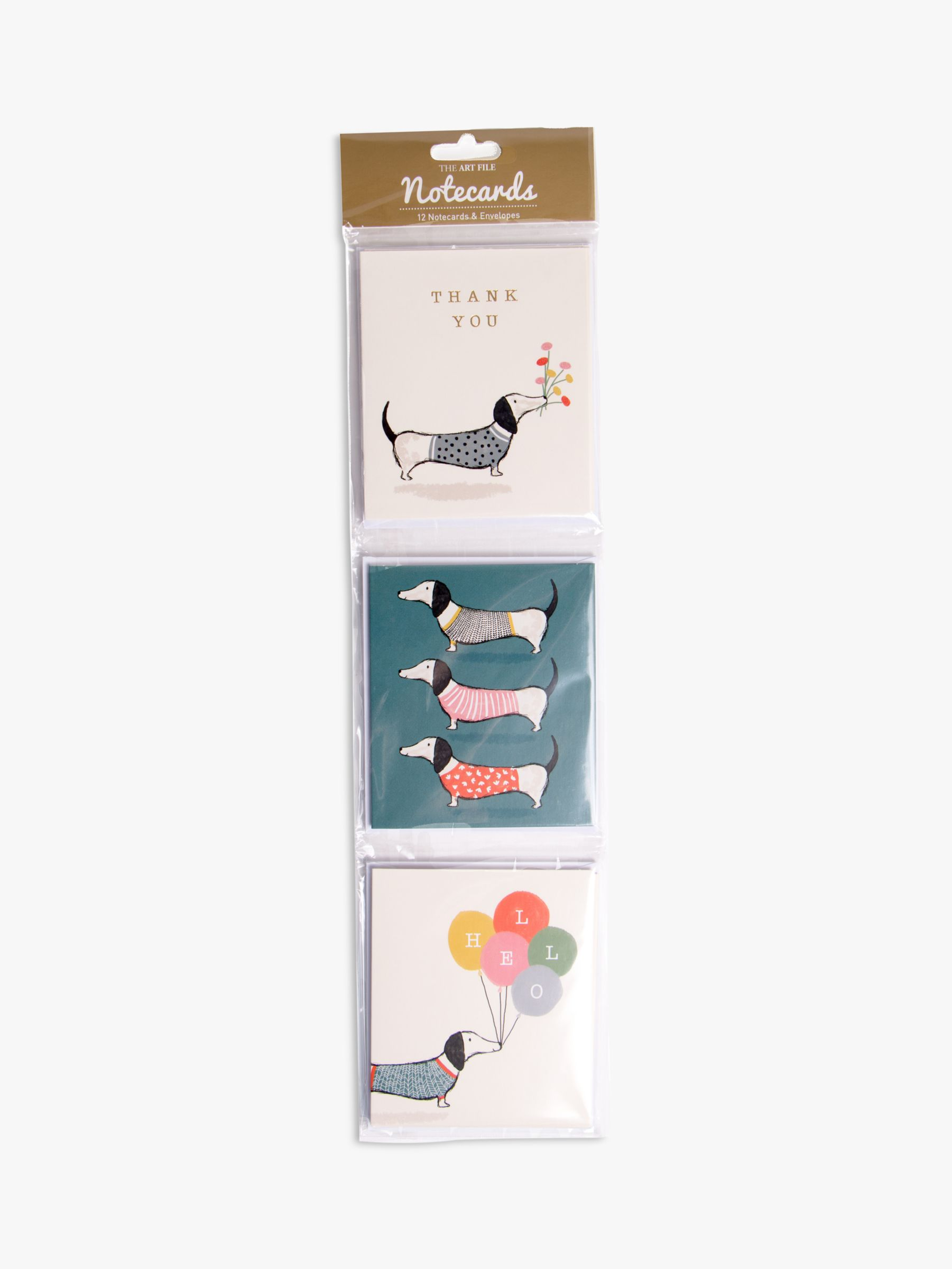 Art File Art File Sausage Dog Notecards, Pack of 12