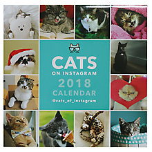 Buy Portico Cats On Instagram 2018 Square Calendar Online at johnlewis.com