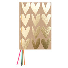 Buy Caroline Gardner Hearts Multi Ribbon Notebook Online at johnlewis.com