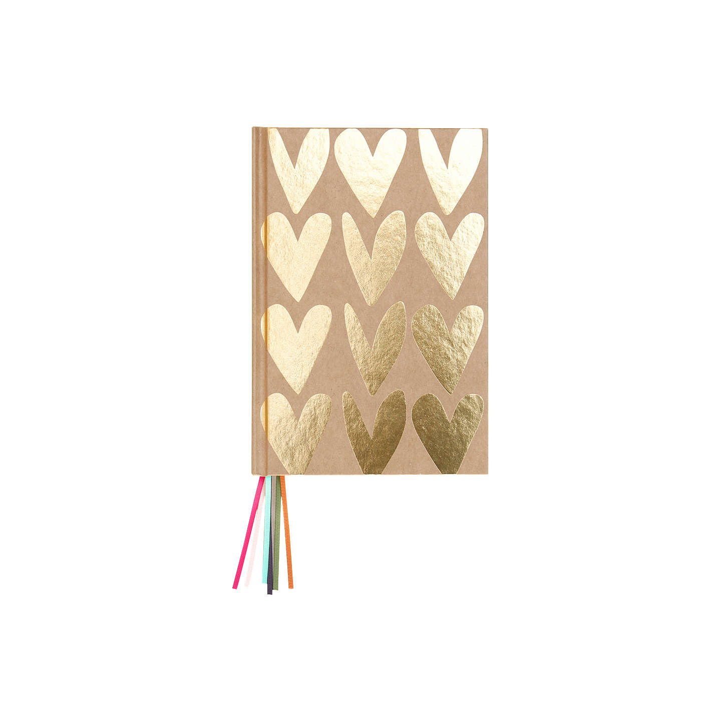 BuyCaroline Gardner Hearts Multi Ribbon Notebook Online at johnlewis.com