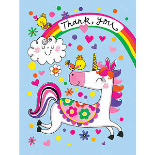 Notecards invitations john lewis rachel ellen unicorn thank you notecards pack of 5 stopboris Image collections