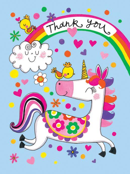 Rachel Ellen Rachel Ellen Unicorn Thank You Notecards, Pack of 5
