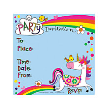 Buy Rachel Ellen Unicorn Invitations, Pack of 8 Online at johnlewis.com