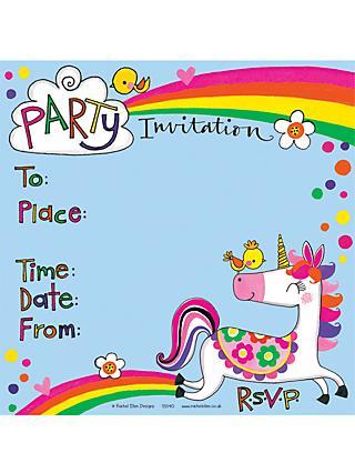 Notecards invitations john lewis rachel ellen unicorn invitations pack of 8 stopboris Image collections