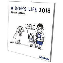Buy Gemma Correll A Dog's Life 2018 Calendar Online at johnlewis.com