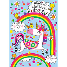 Buy Rachel Ellen Magical Unicorn Writing Set Online at johnlewis.com