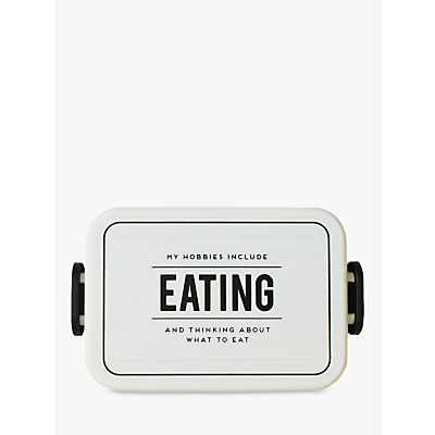Alice Scott Eating Lunch Box, Black/White