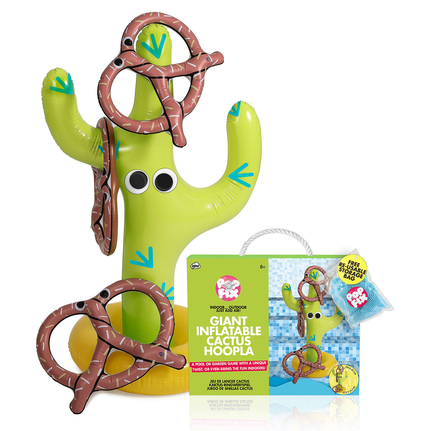 BuyNPW Inflatable Cactus Pretzel Hoopla Online at johnlewis.com