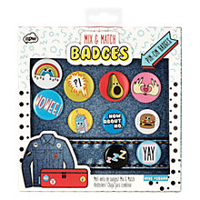 Buy NPW Mix & Match Patches & Badges, Set of 10 Online at johnlewis.com
