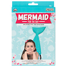 Buy NPW Mermaid For The Day Inflatable Tail and Headband Online at johnlewis.com