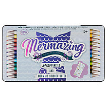 Buy NPW Mermaid 50/50 Double Ended Colouring Pencils, Pack of 12 Online at johnlewis.com