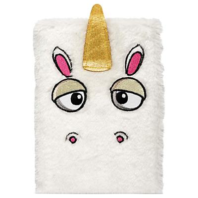 Product photo of Npw fluffy unicorn notebook