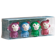 Buy Tinc Monkey Scented Erasers, Set of 4 Online at johnlewis.com