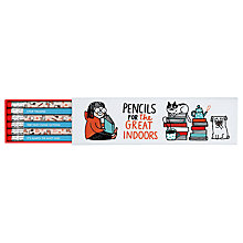 Buy Gemma Correll Great Indoors Boxed Pencils, Pack of 6 Online at johnlewis.com