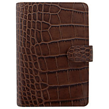 Buy Filofax Classic Croc-Effect Leather Personal Organiser, Chestnut Online at johnlewis.com