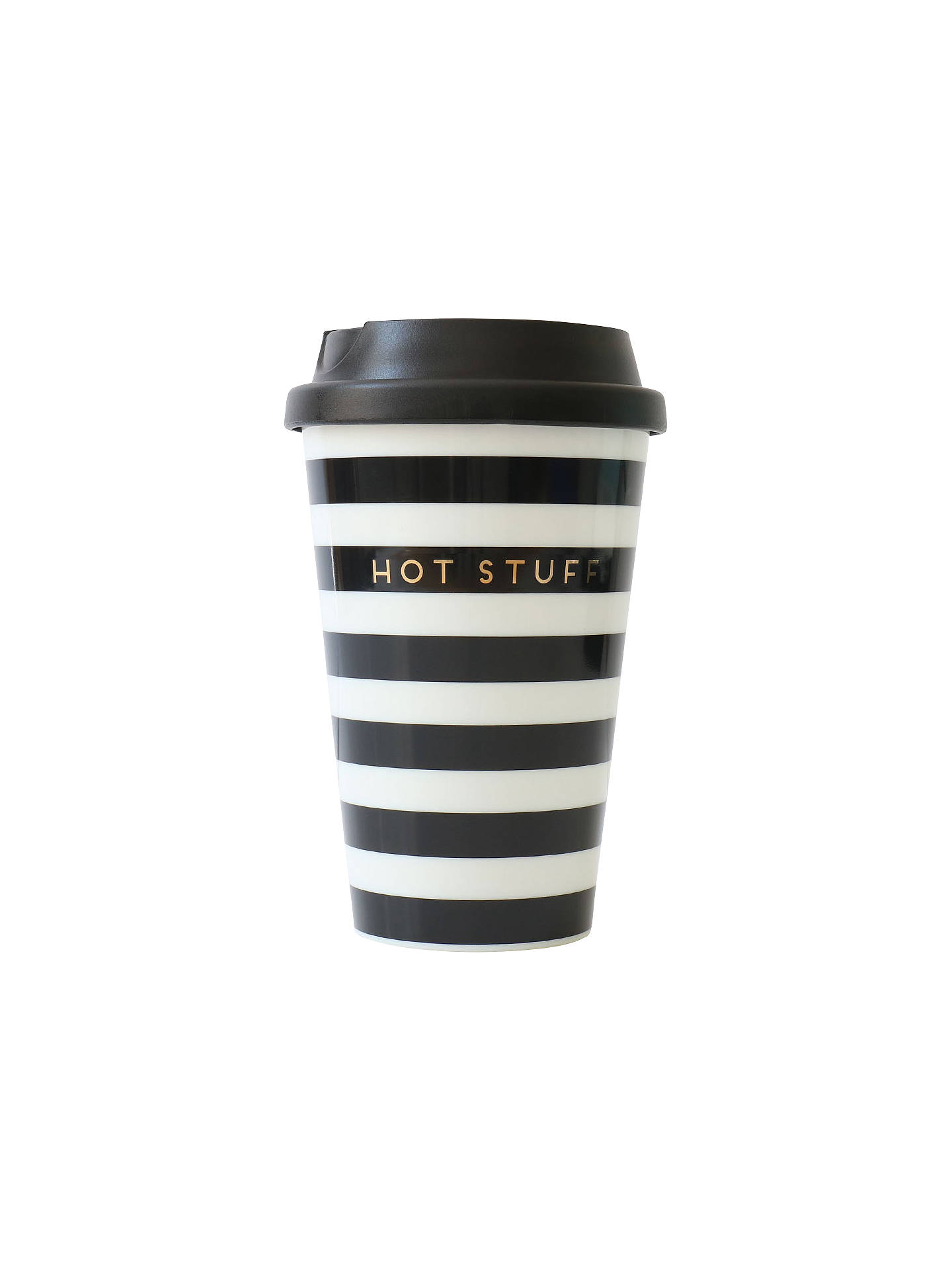 BuyAlice Scott Hot Stuff Travel Mug, Black/White Online at johnlewis.com