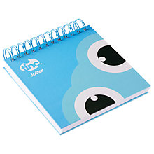 Buy Tinc Tonkin Square Jotter Notepad, Blue Online at johnlewis.com