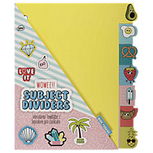 Buy NPW Vibe Squad Subject Dividers Online at johnlewis.com