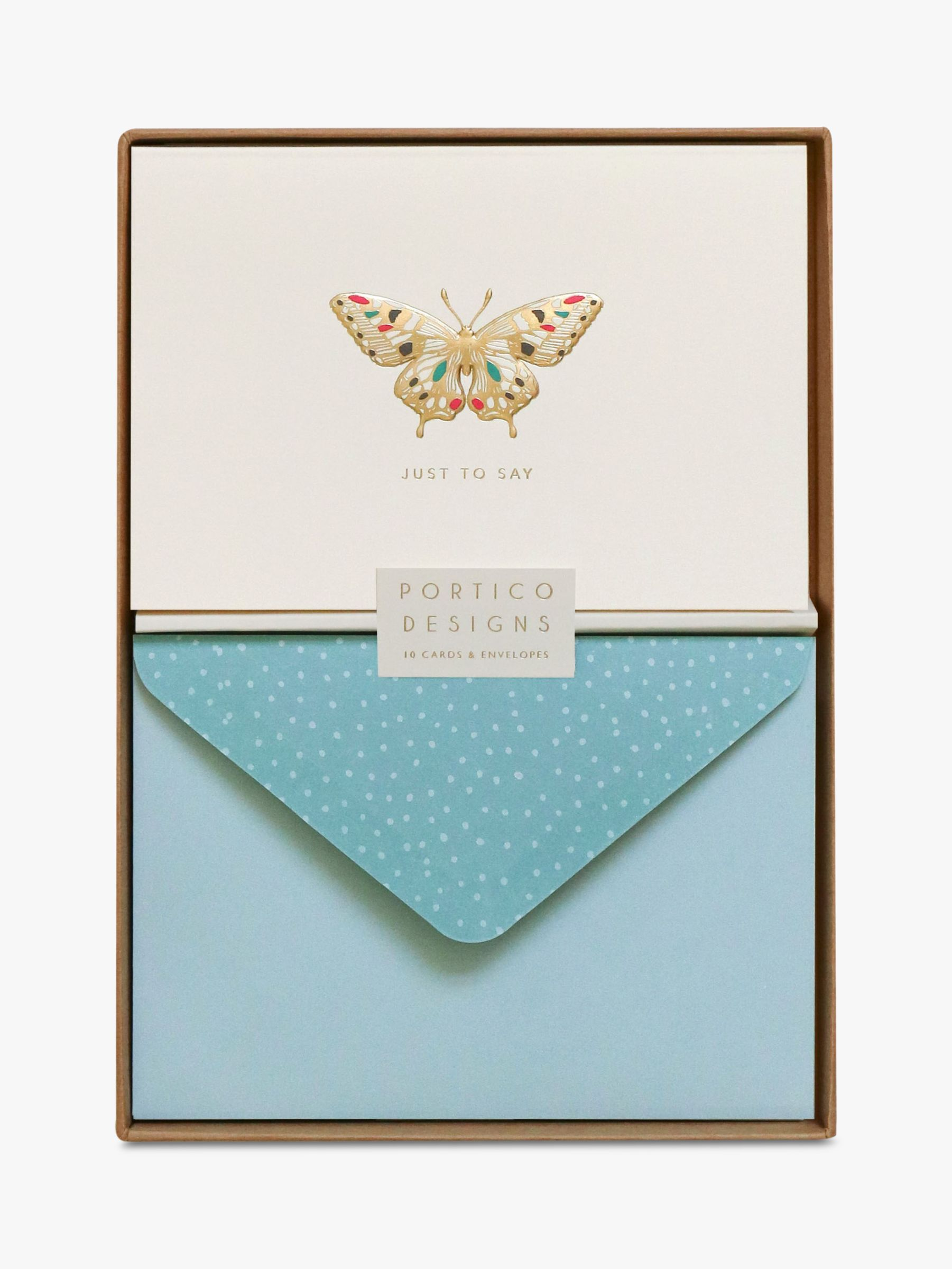 Portico Portico Butterfly Just To Say Notecards, Box of 10