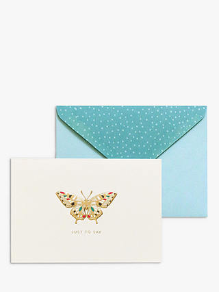 Buy Portico Butterfly Just To Say Notecards, Box of 10 Online at johnlewis.com