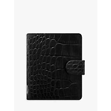 Buy Filofax Classic Croc-Effect Leather Pocket Organiser, Ebony Online at johnlewis.com