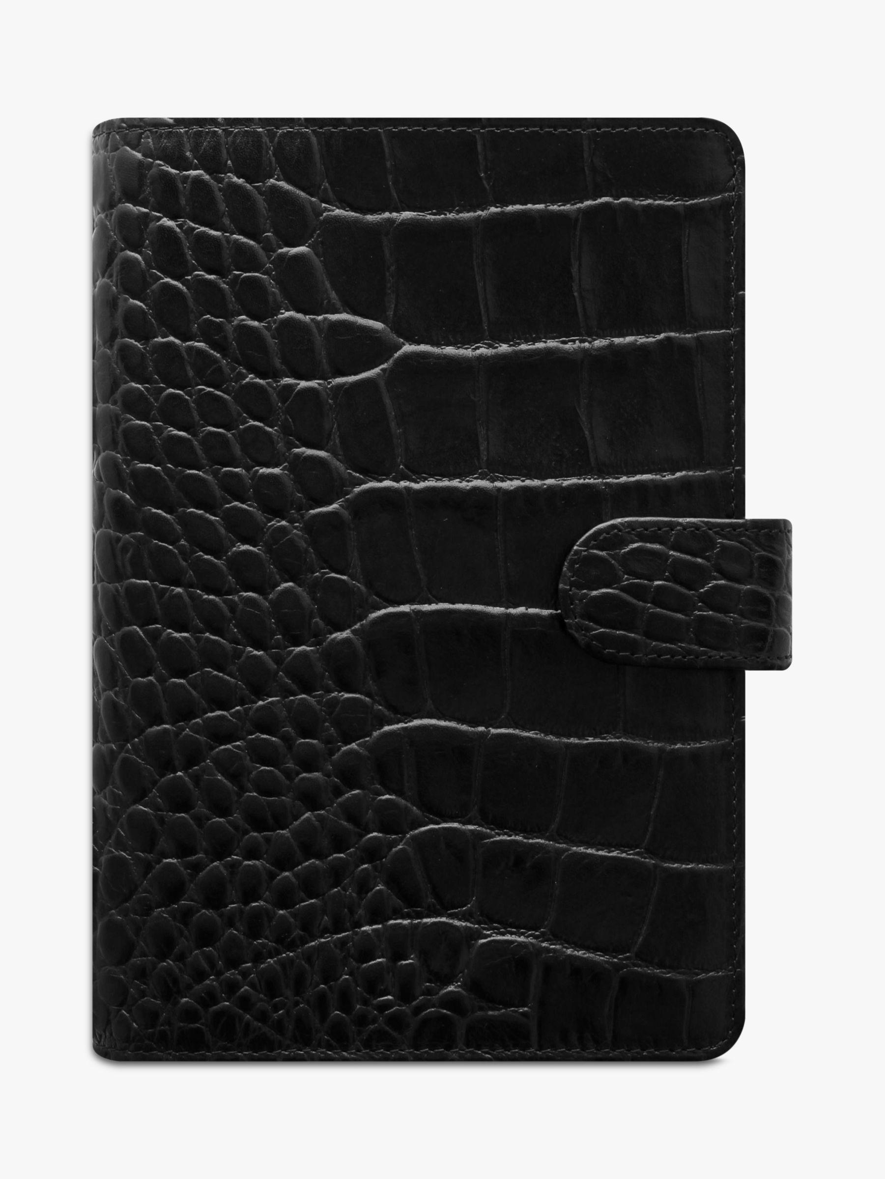 Filofax Filofax Classic Croc Personal Organiser, Ebony