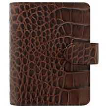 Buy Filofax Classic Croc-Effect Leather Pocket Organiser, Chestnut Online at johnlewis.com