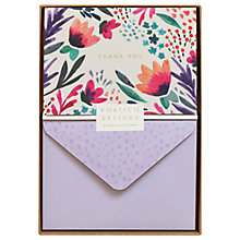 Buy Portico Floral Thank You Notecards, Box of 10 Online at johnlewis.com