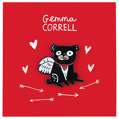 Gemma Correll Puggy Valentine Pin Badge