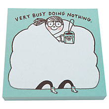 Buy Gemma Correll Busy Doing Nothing Sticky Notes Online at johnlewis.com
