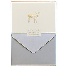 Buy Portico Foiled Box Deer Letters, Pack of 10 Online at johnlewis.com