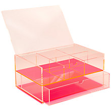 Buy Lund London Large Chunky Acrylic J. Box, Pink Online at johnlewis.com