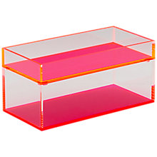 Buy Lund London Acrylic Chunky Stacking Tray, Set of 2 Online at johnlewis.com