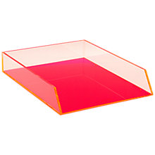 Buy Lund London Chunky Filing Tray, Pink Online at johnlewis.com