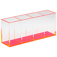 Buy Lund London Acrylic Quadruple Pen Holder, Pink Online at johnlewis.com