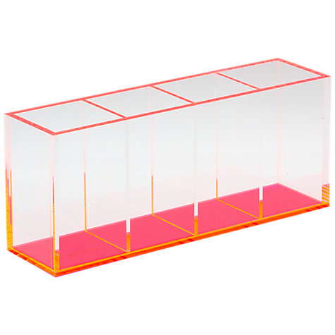 buy lund london acrylic quadruple pen holder pink online at