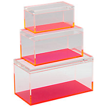 Buy Lund London Acrylic Storage Box Set, Pack of 3 Online at johnlewis.com